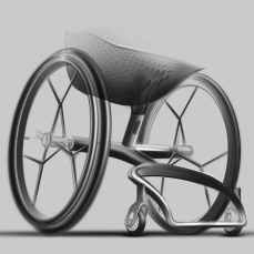 The GO wheelchair features made-to-measure 3D-printed seat and foot bay, and will launch during the Clerkenwell Design Week later this month