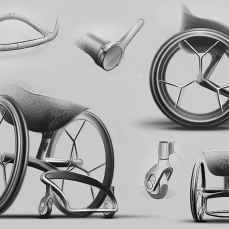 The GO wheelchair includes two custom-made pieces – the seat and the foot bay – which are built to accurately fit the user's body shape, weight and their disability