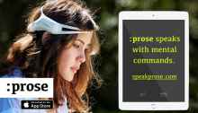 """When coupled with an EEG headset, the assistive communication app :prose can allow users to """"speak their minds"""""""